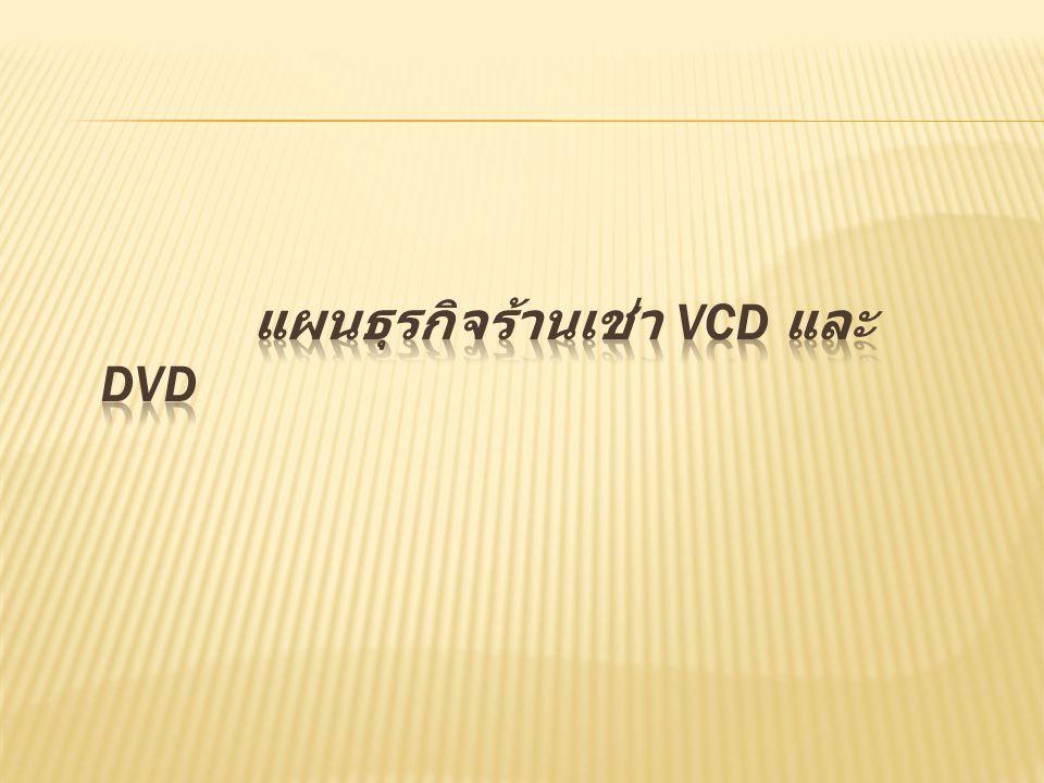 แผนธุรกิจร้านเช่า VCD และ DVD