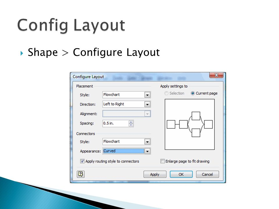 Config Layout Shape > Configure Layout