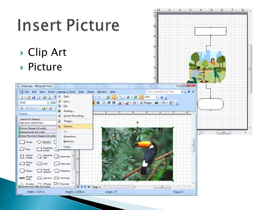 Insert Picture Clip Art Picture