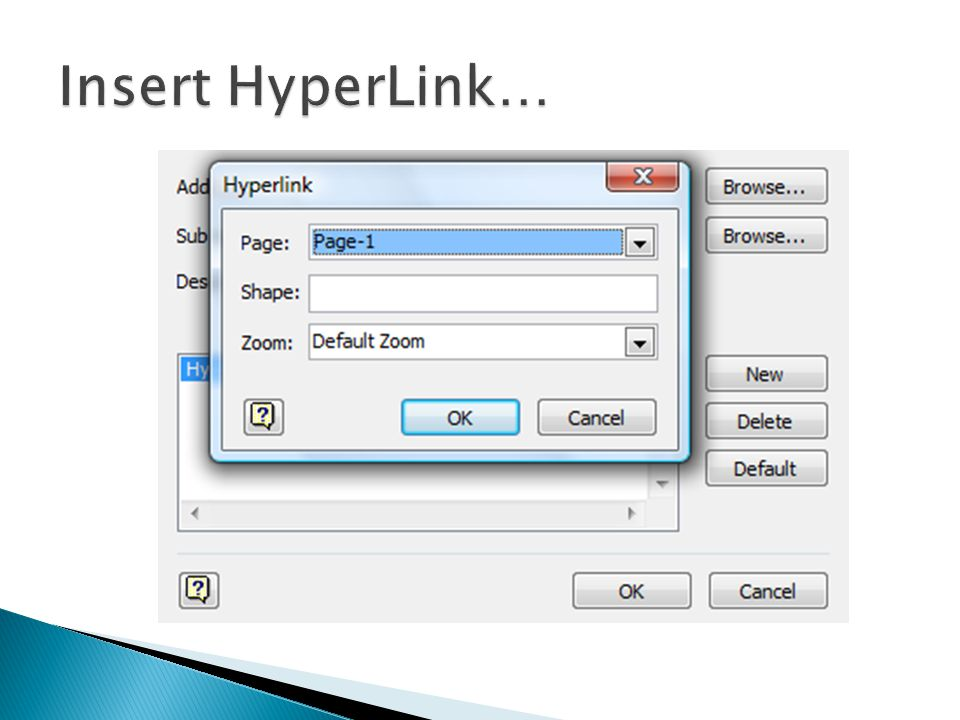 Insert HyperLink…
