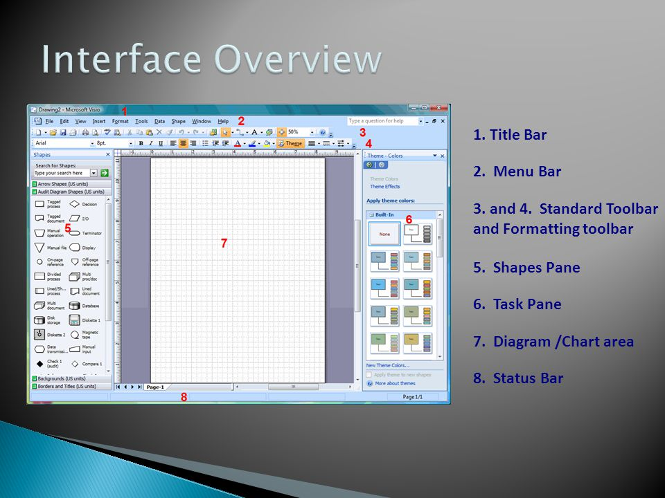 Interface Overview 1. Title Bar 2. Menu Bar