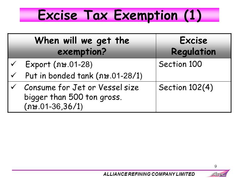 Excise Tax Exemption (1)