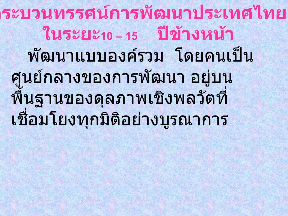 กระบวนทรรศน์การพัฒนาประเทศไทย