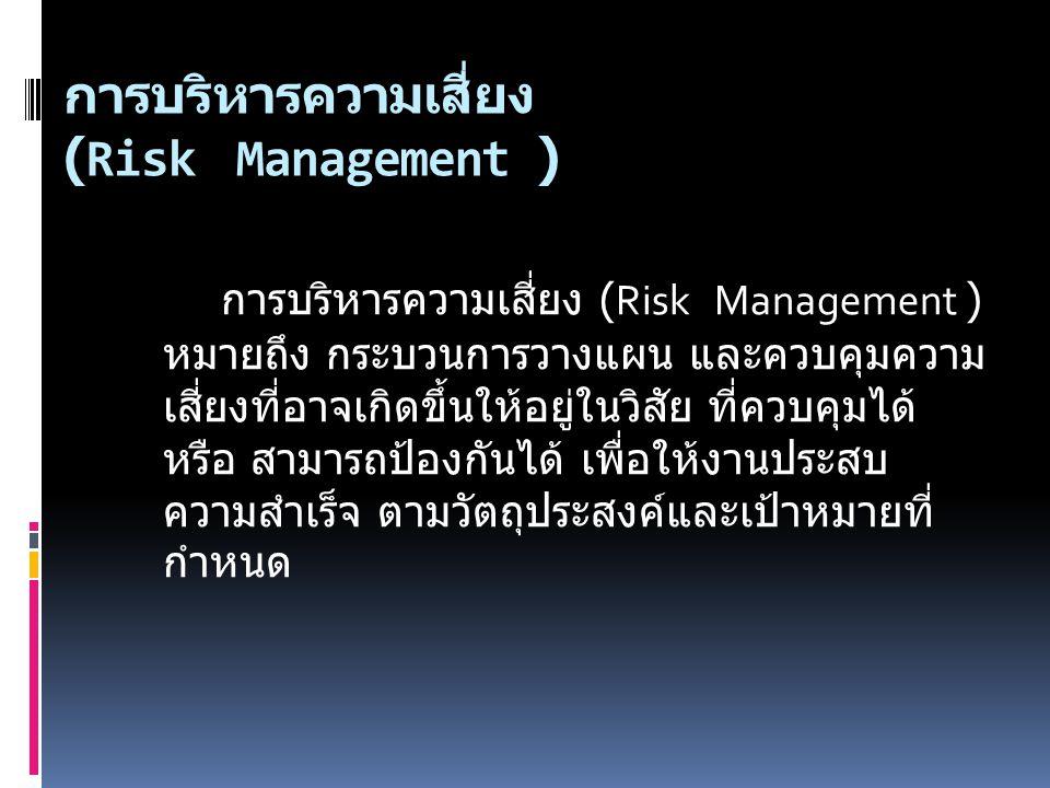 การบริหารความเสี่ยง (Risk Management )