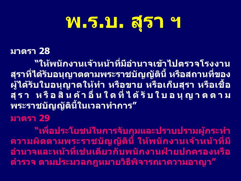 พ.ร.บ. สุรา ฯ มาตรา 28.