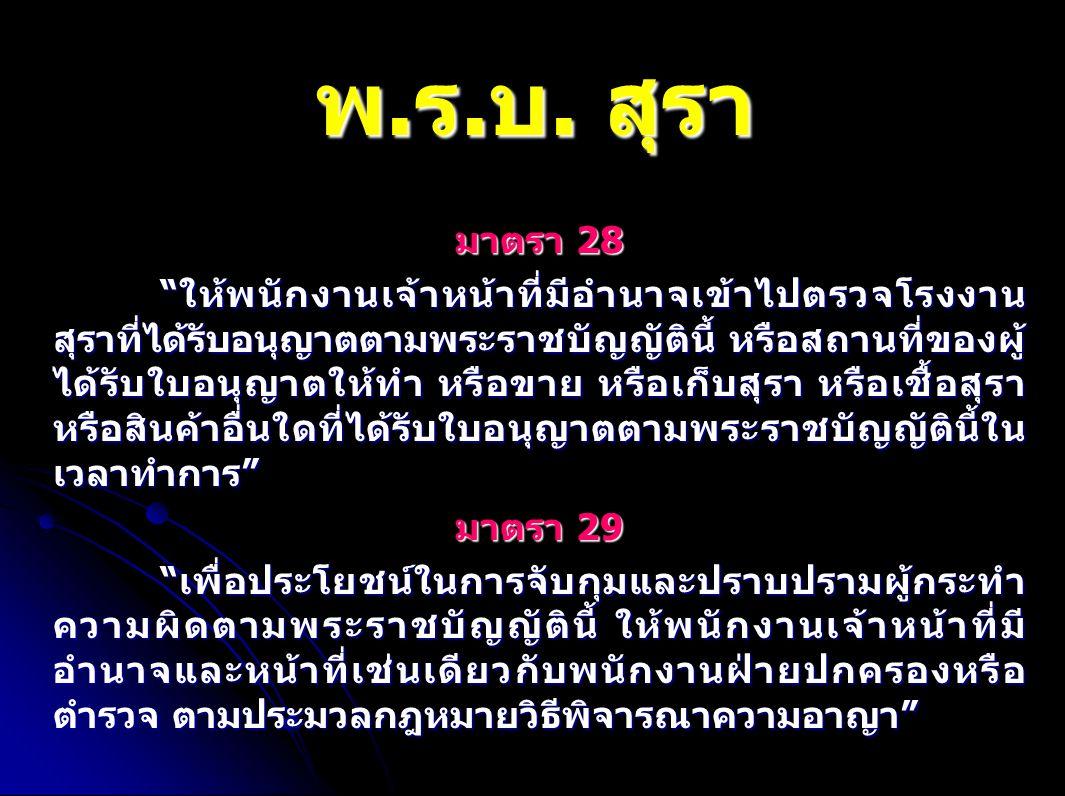 พ.ร.บ. สุรา มาตรา 28.