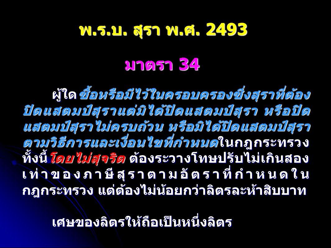 พ.ร.บ. สุรา พ.ศ. 2493 มาตรา 34.