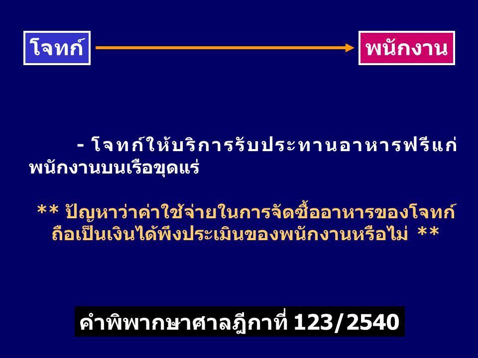 โจทก์ พนักงาน คำพิพากษาศาลฎีกาที่ 123/2540