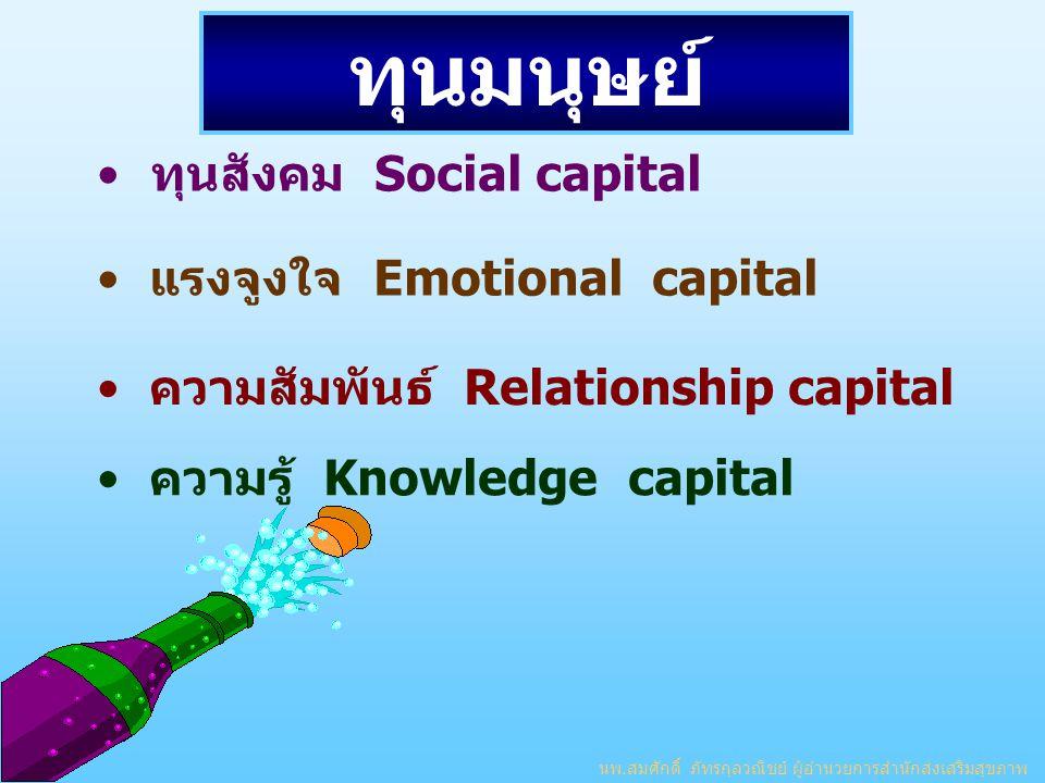 ทุนมนุษย์ ทุนสังคม Social capital แรงจูงใจ Emotional capital