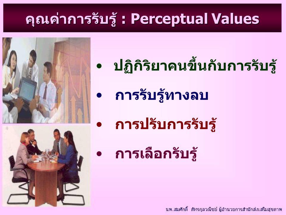 คุณค่าการรับรู้ : Perceptual Values