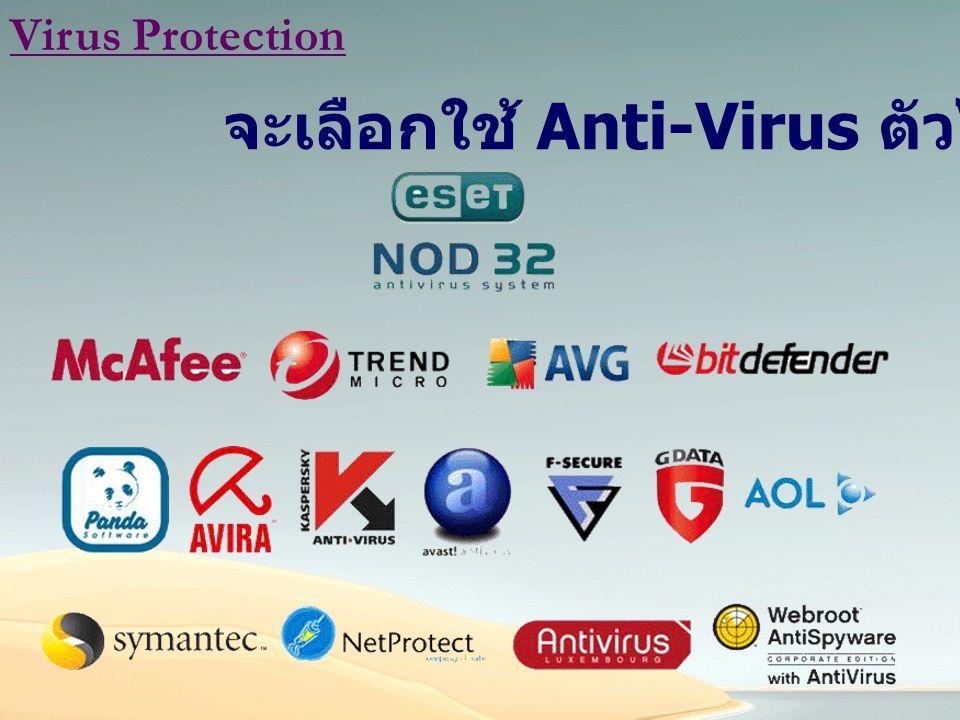 จะเลือกใช้ Anti-Virus ตัวไหนดี