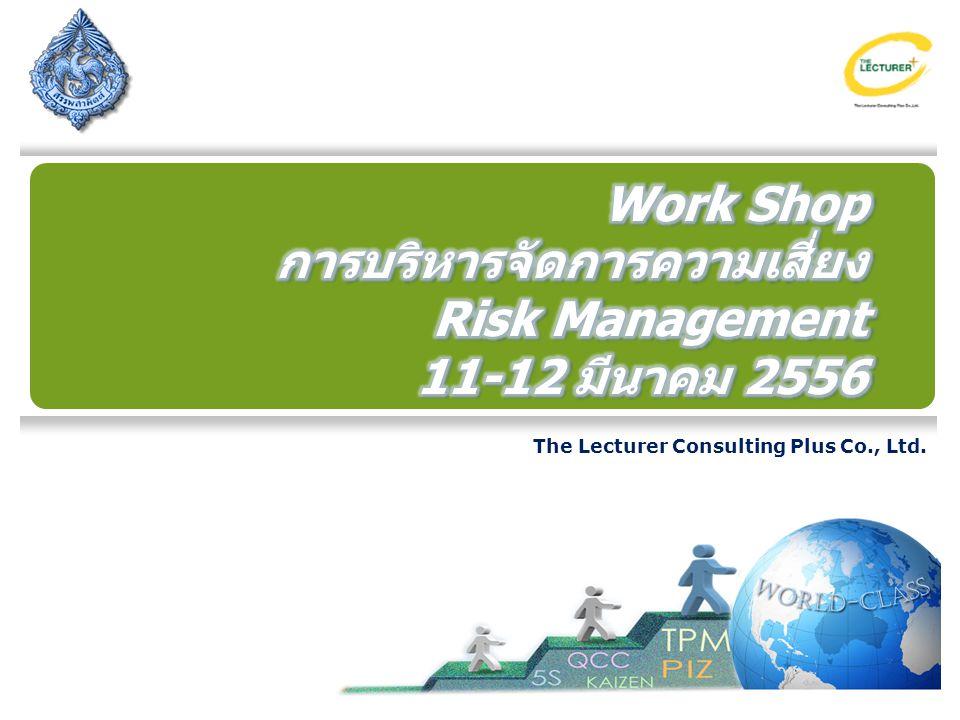 การบริหารจัดการความเสี่ยง Risk Management 11-12 มีนาคม 2556