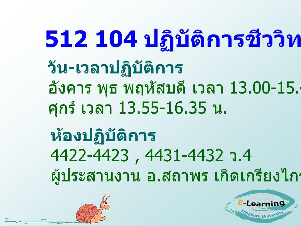512 104 ปฏิบัติการชีววิทยาทั่วไป 2