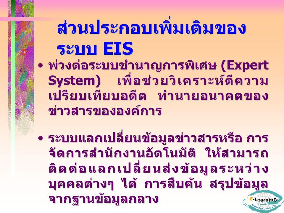 ส่วนประกอบเพิ่มเติมของระบบ EIS
