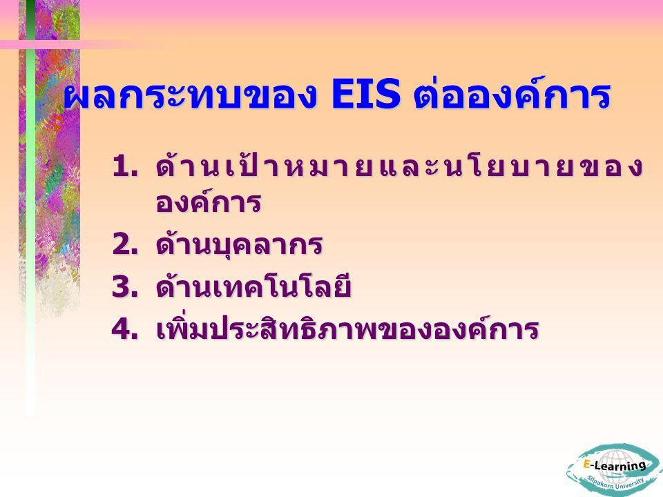 ผลกระทบของ EIS ต่อองค์การ