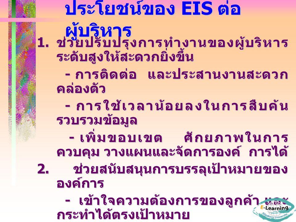 ประโยชน์ของ EIS ต่อผู้บริหาร