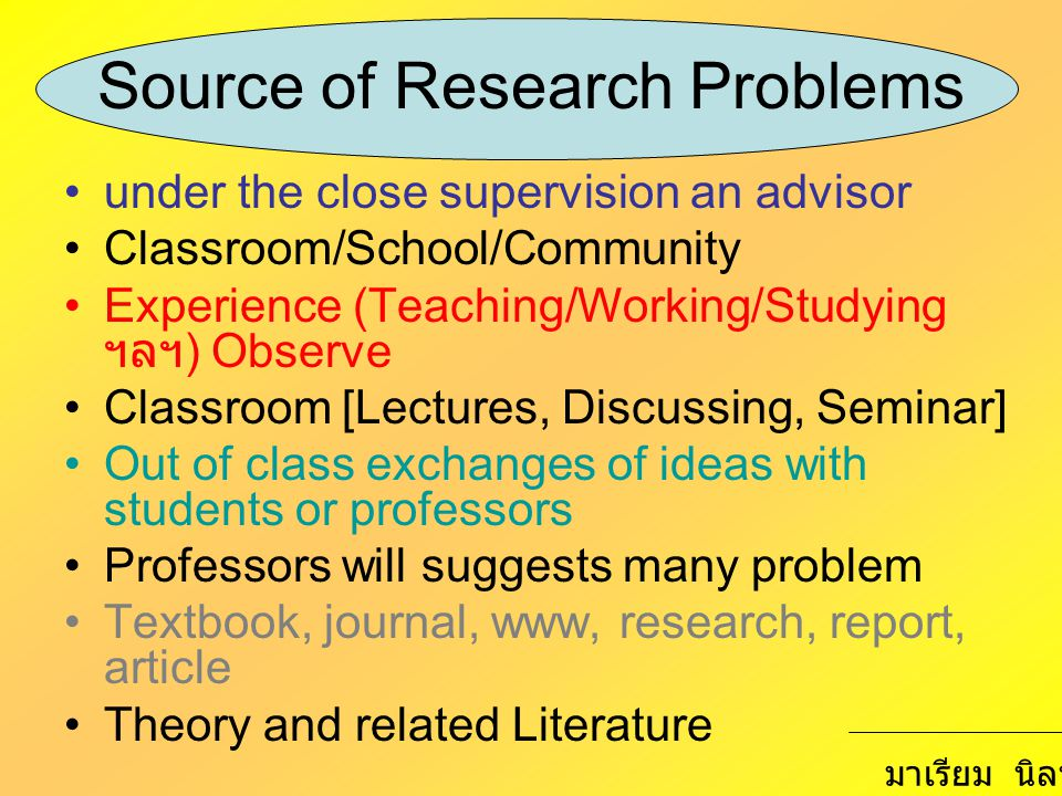 Source of Research Problems