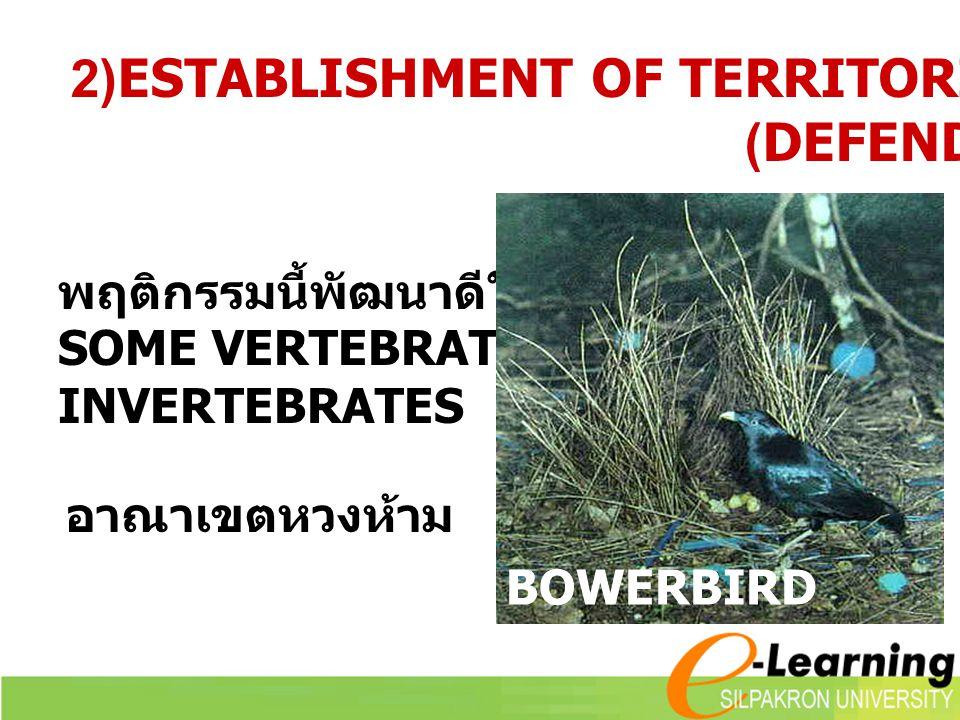 2)ESTABLISHMENT OF TERRITORIES (DEFENDED AREA)