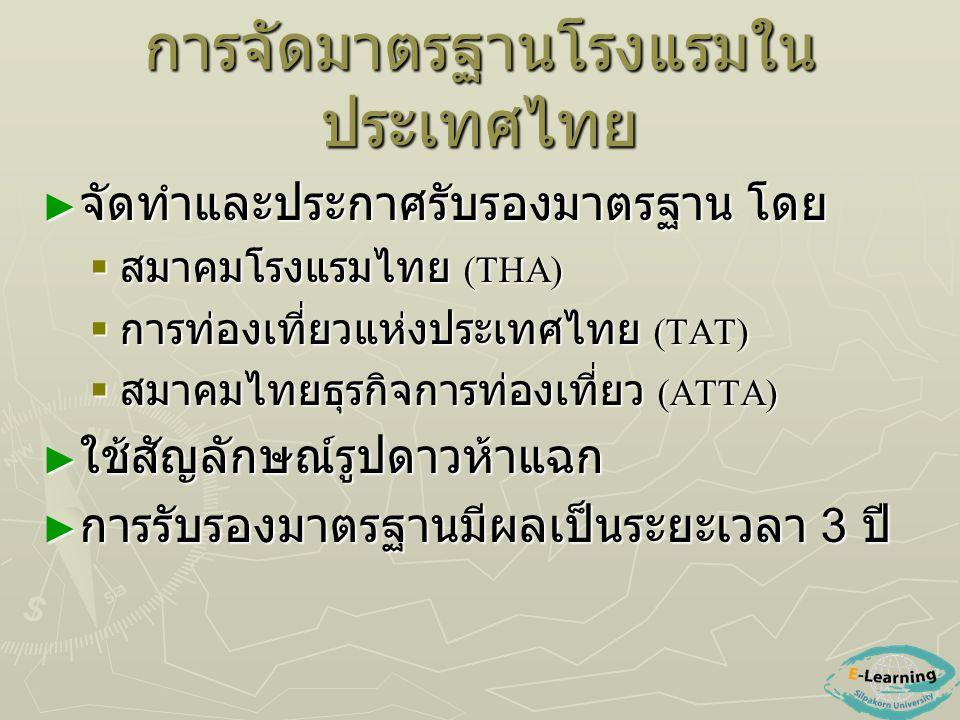 การจัดมาตรฐานโรงแรมในประเทศไทย