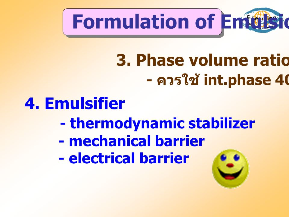 Formulation of Emulsions