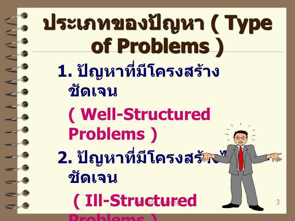 ประเภทของปัญหา ( Type of Problems )