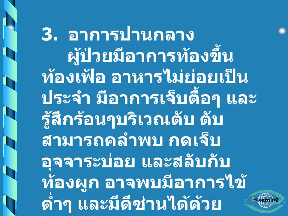 3. อาการปานกลาง