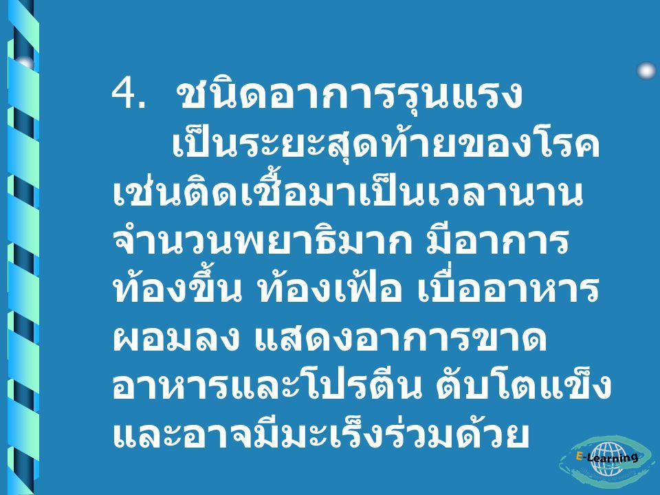 4. ชนิดอาการรุนแรง