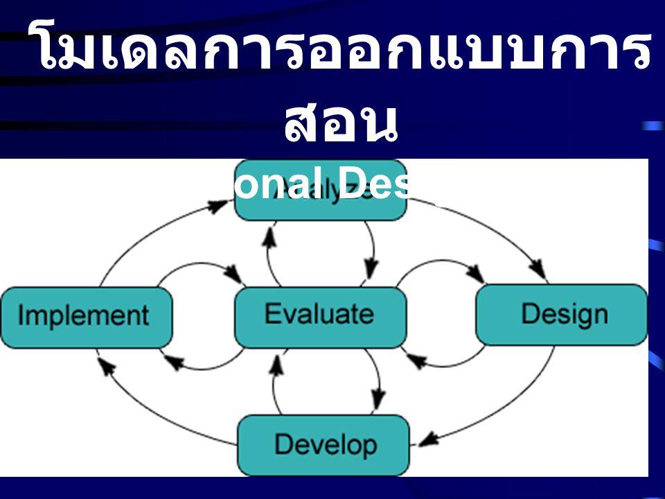 โมเดลการออกแบบการสอน (Instructional Design Model)