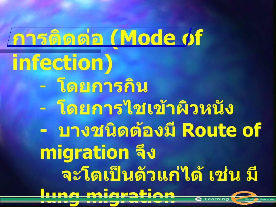 การติดต่อ (Mode of infection)