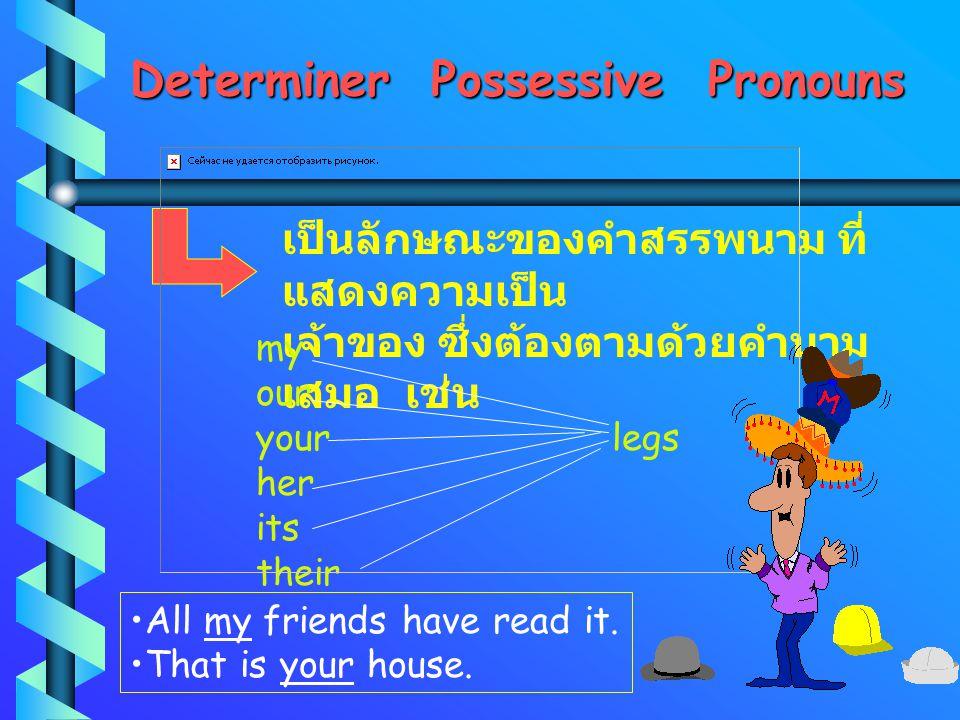 Determiner Possessive Pronouns