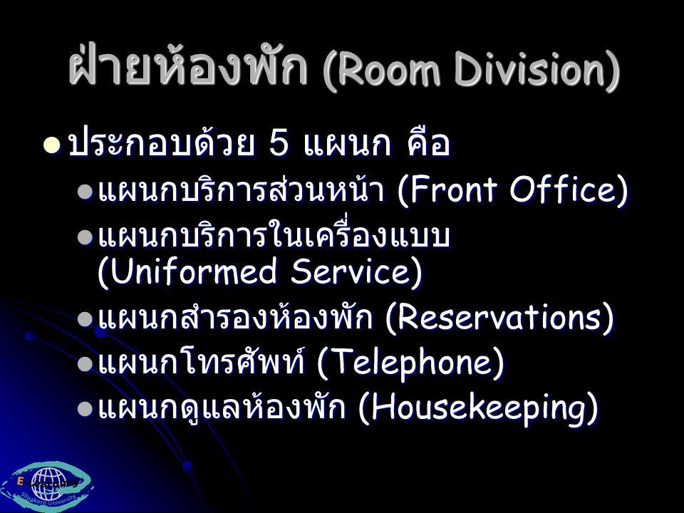 ฝ่ายห้องพัก (Room Division)