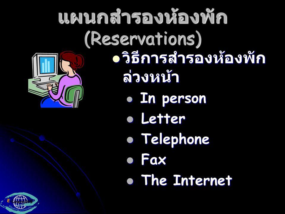 แผนกสำรองห้องพัก (Reservations)