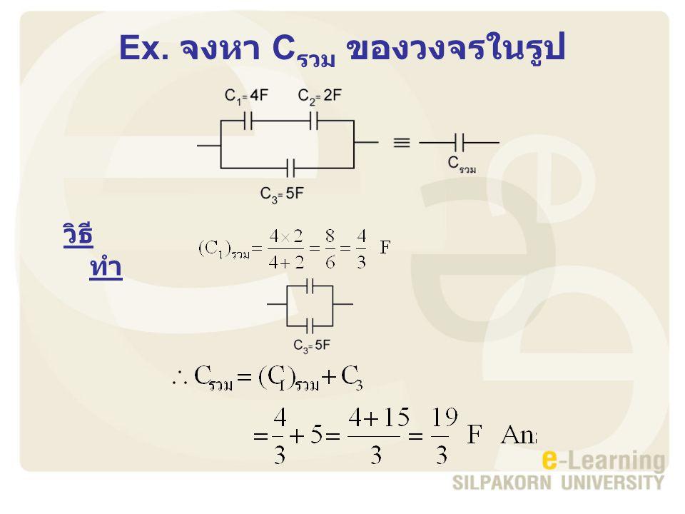 Ex. จงหา Cรวม ของวงจรในรูป