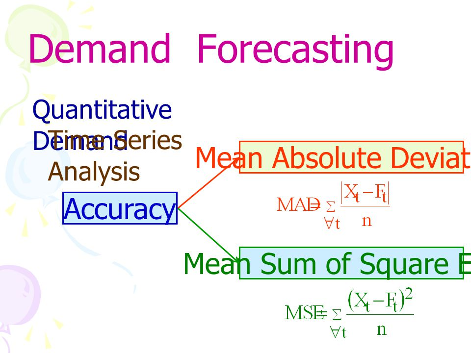 Demand Forecasting Mean Absolute Deviation Accuracy