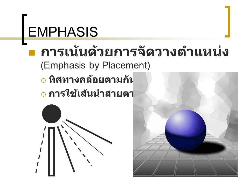 การเน้นด้วยการจัดวางตำแหน่ง (Emphasis by Placement)