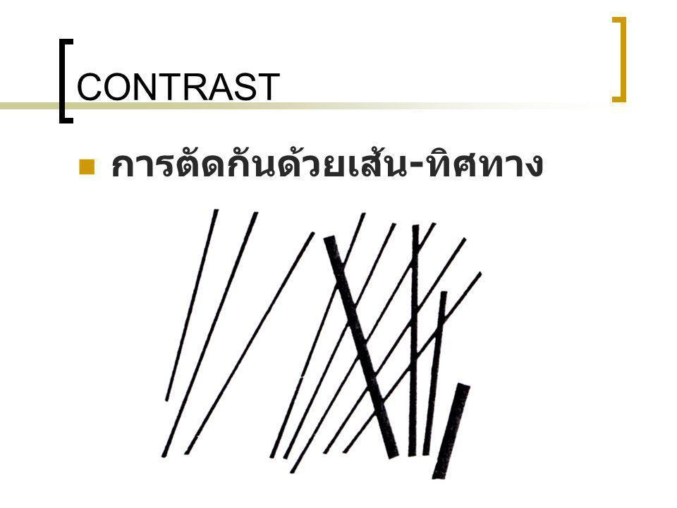 CONTRAST การตัดกันด้วยเส้น-ทิศทาง