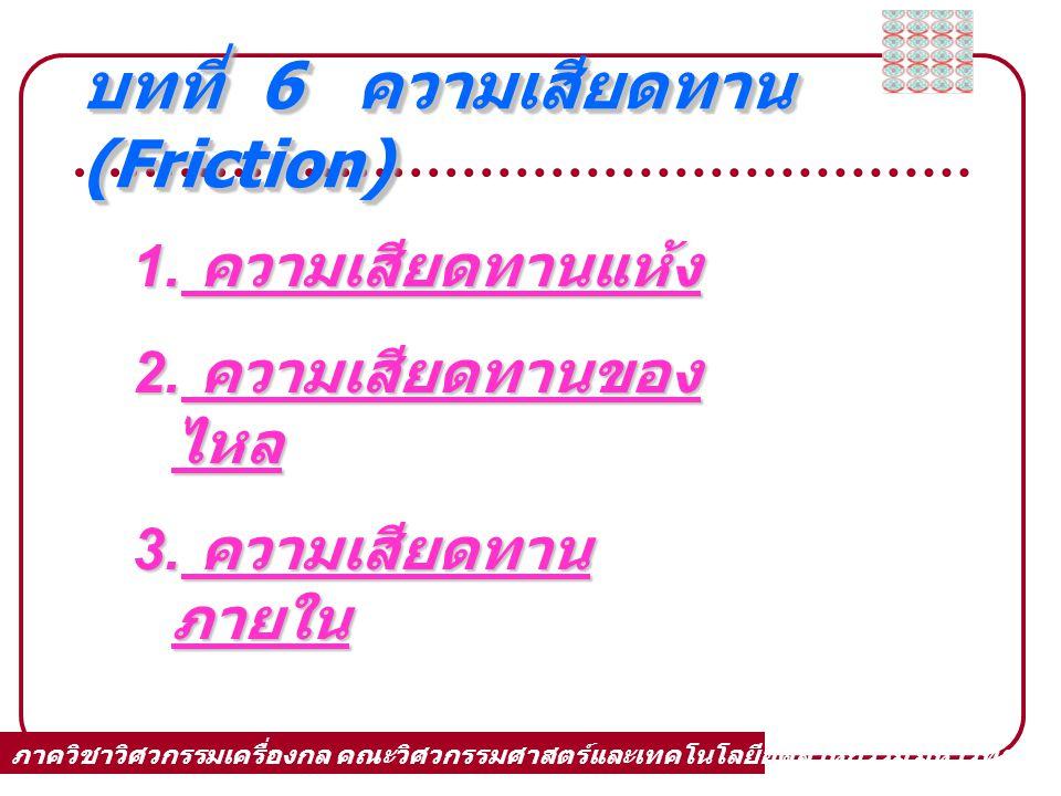 บทที่ 6 ความเสียดทาน(Friction)