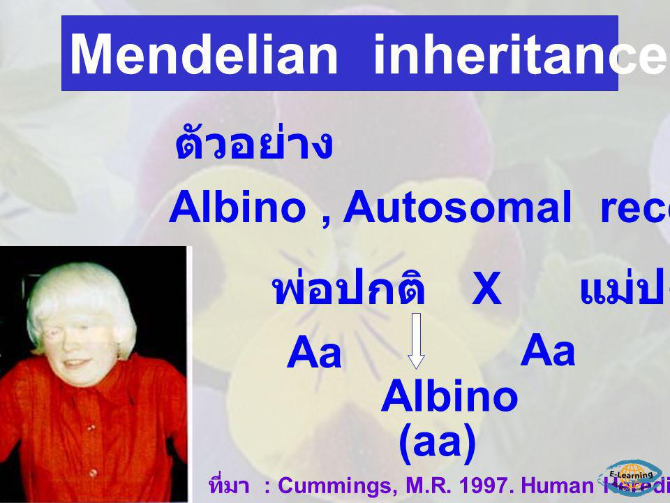 Mendelian inheritance in human