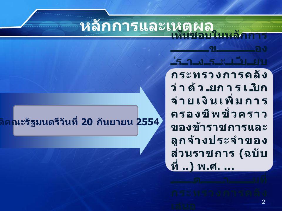 มติคณะรัฐมนตรีวันที่ 20 กันยายน 2554