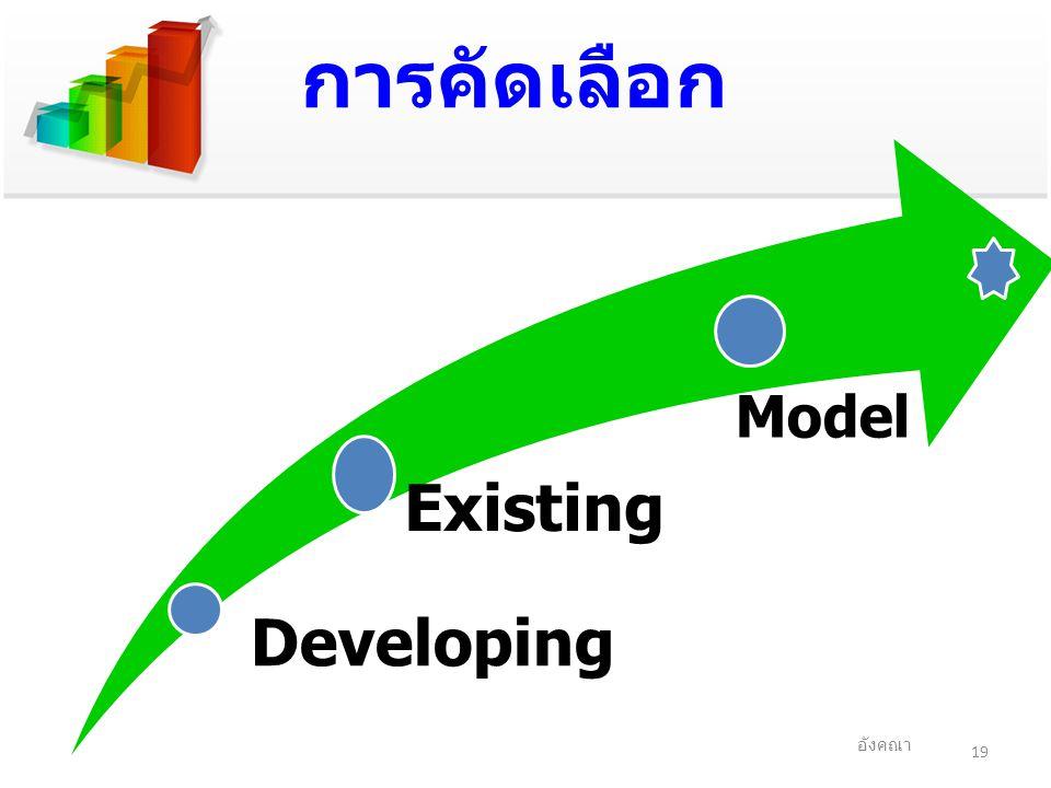 การคัดเลือก Developing Existing Model อังคณา