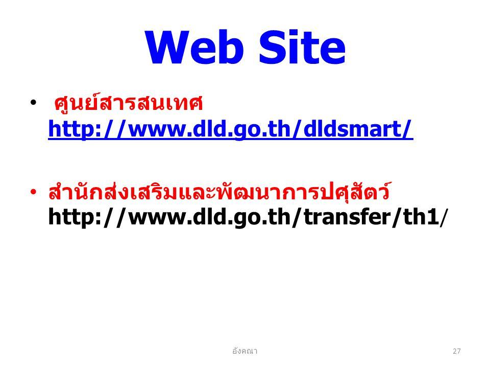 Web Site ศูนย์สารสนเทศ http://www.dld.go.th/dldsmart/