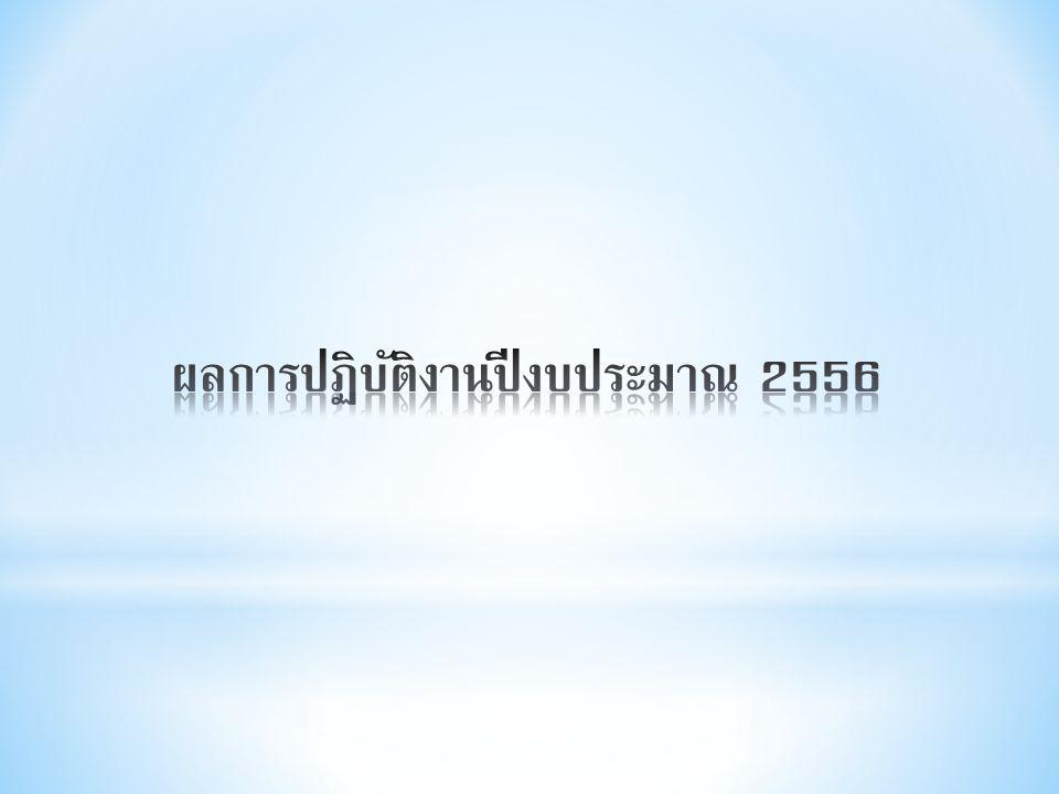 ผลการปฏิบัติงานปีงบประมาณ 2556