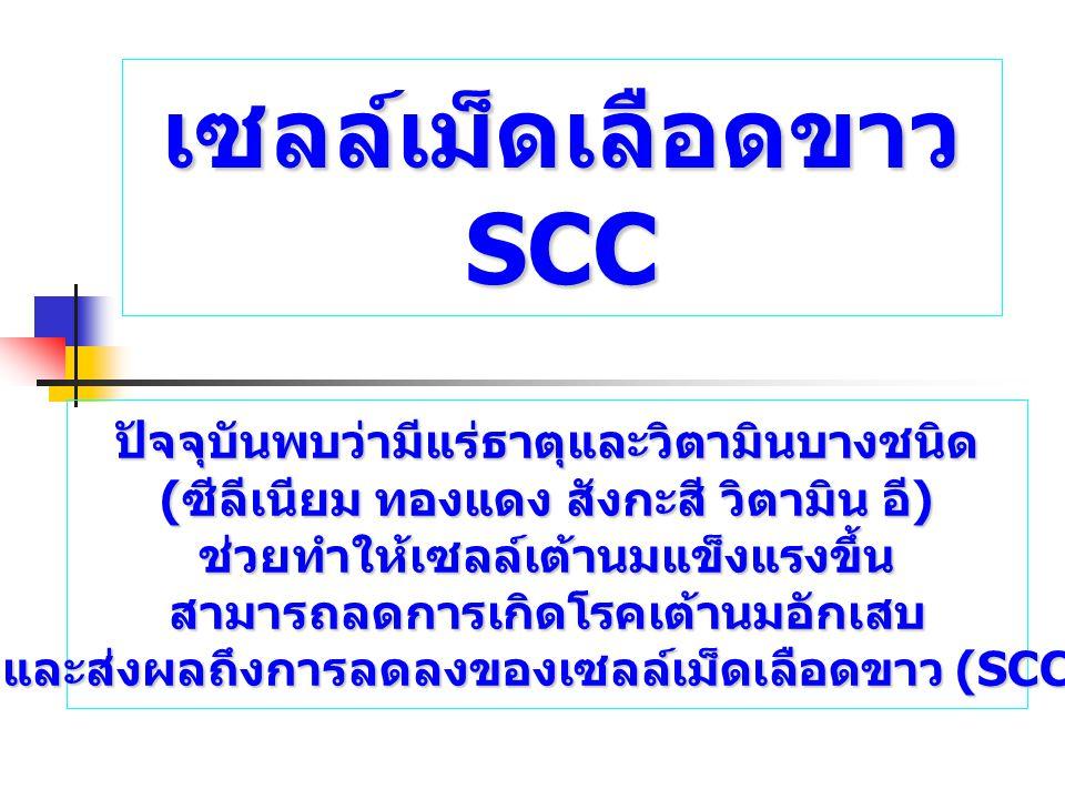 เซลล์เม็ดเลือดขาว SCC