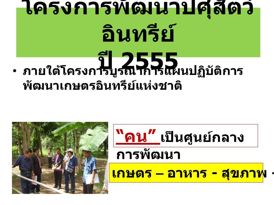 โครงการพัฒนาปศุสัตว์อินทรีย์ ปี 2555