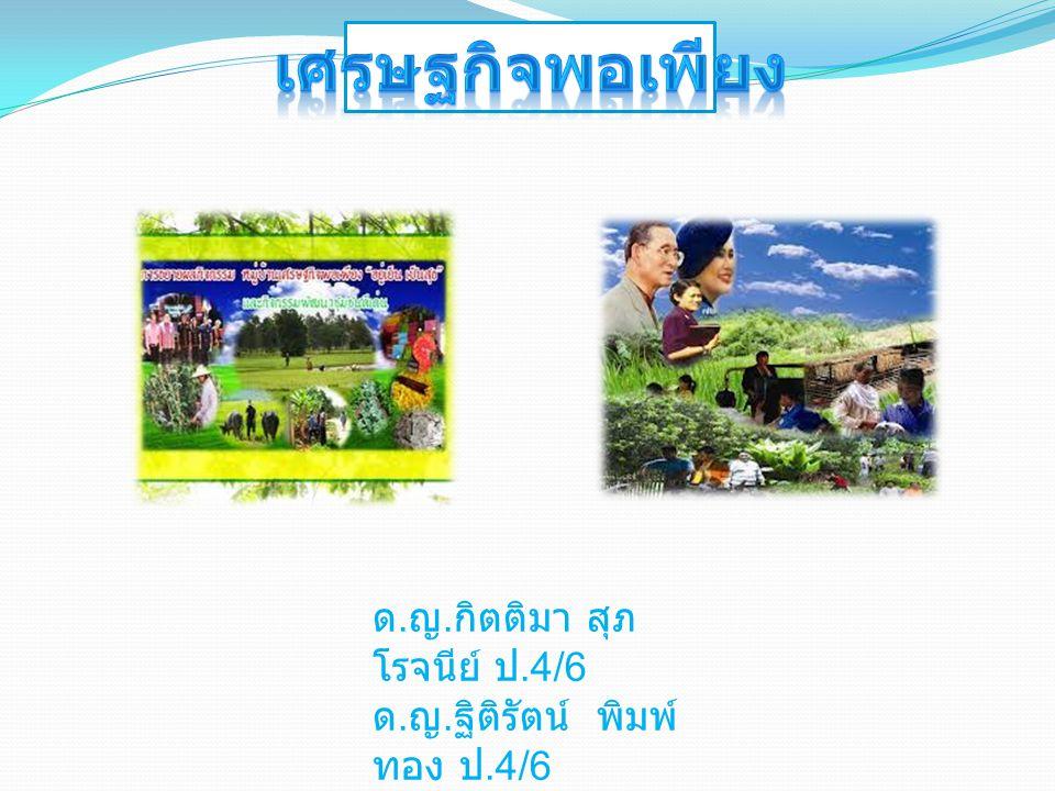 เศรษฐกิจพอเพียง ด.ญ.กิตติมา สุภโรจนีย์ ป.4/6