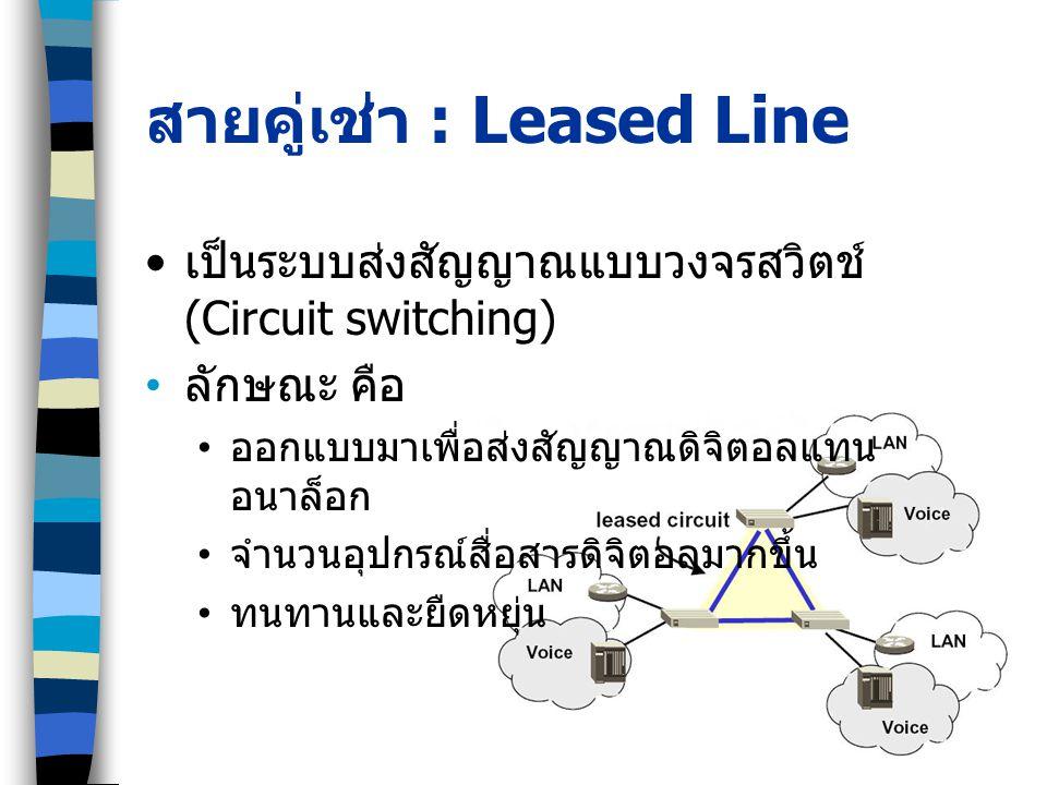 สายคู่เช่า : Leased Line