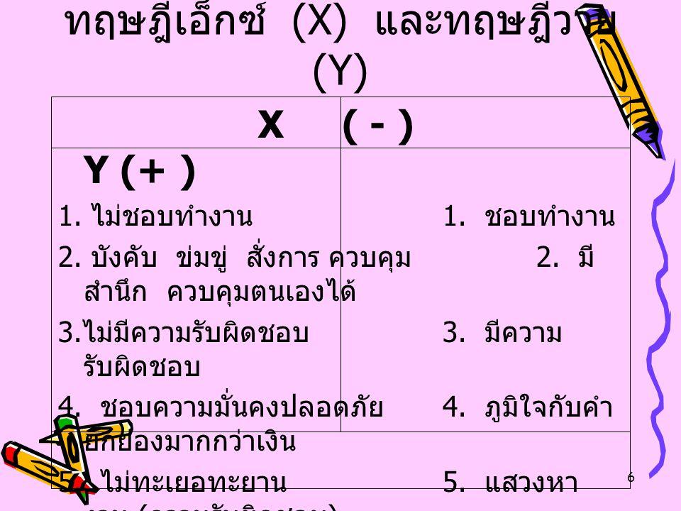 ทฤษฎีเอ็กซ์ (X) และทฤษฎีวาย (Y)