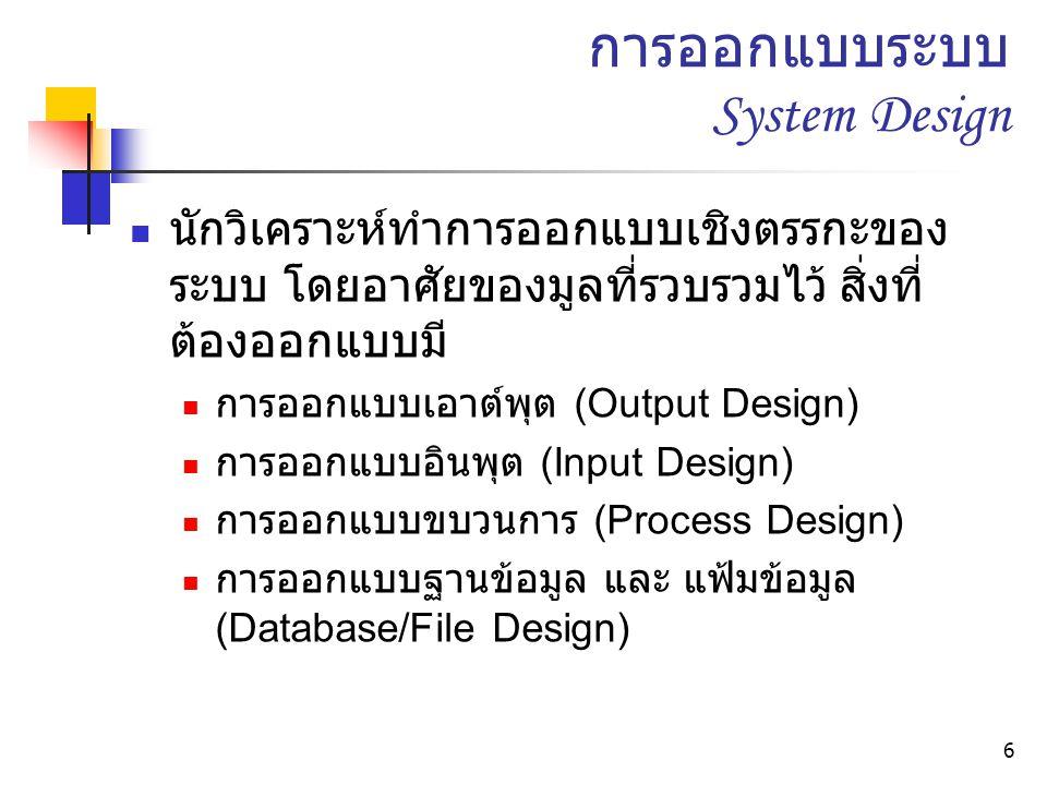 การออกแบบระบบ System Design