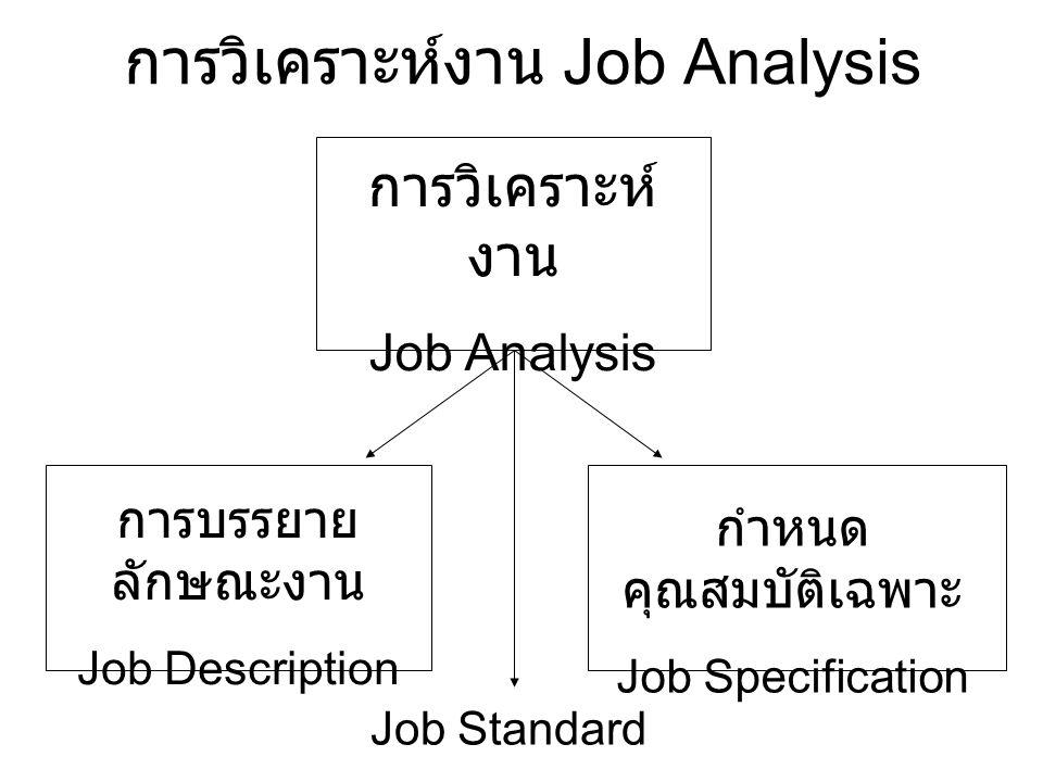 การวิเคราะห์งาน Job Analysis