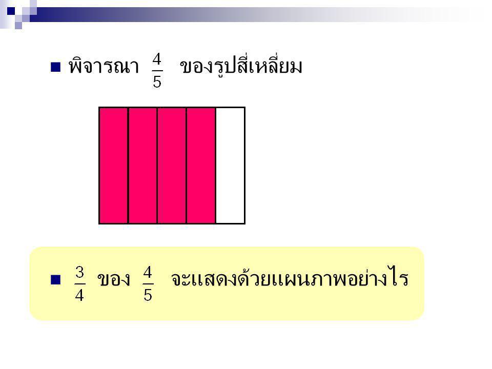พิจารณา ของรูปสี่เหลี่ยม
